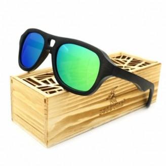 Rectangular Aviator Bamboo Wood Sunglasses [4 Variants]