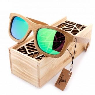 Square Polarized Bamboo Wood Sunglasses [3 Variants]