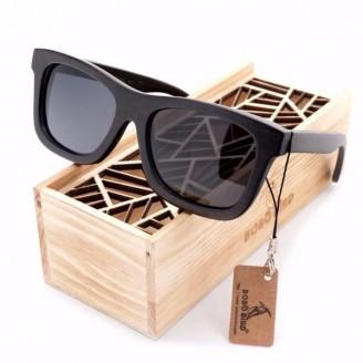 Preppy Wayfarer Bamboo Wood Sunglasses [3 Variants]
