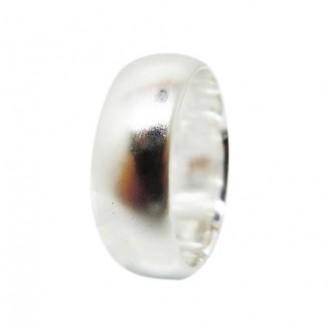 Handmade Fine Silver Men's Ring [9mm]