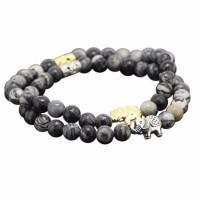 Obsidian Rhapsody Elephant Healing Bracelet [2 Variants]