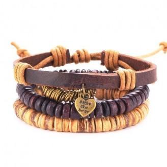 Stackable Retro Handmade Leather Bracelet