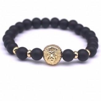 Matte Black Lion Charm Bracelet [8 Variants]