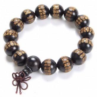 Great Compassion Mantra Ebony Buddhist Bracelet