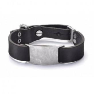 Vintage Stainless Steel Charm Italian Genuine Leather Bracelet [2 Variants]