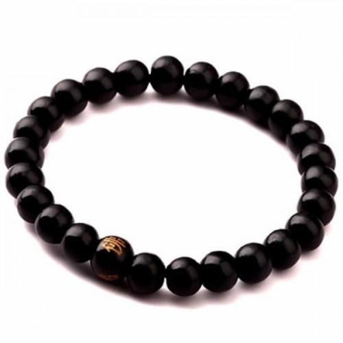 Elegant Black Sandalwood Beaded Meditation Bracelet