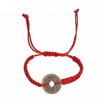 Lucky Coin Charm Macrame Bracelet