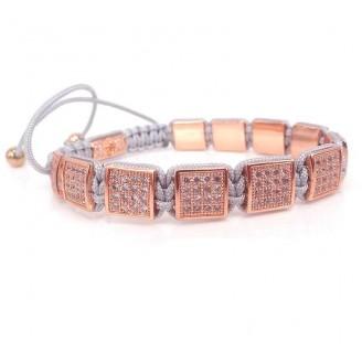 Micro Pave Chunky Macrame Bracelet [8 Variants]