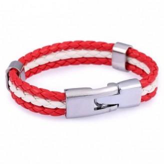 Support Poland Leather Unisex Bracelet