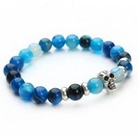 Color: Blue Striped Agate