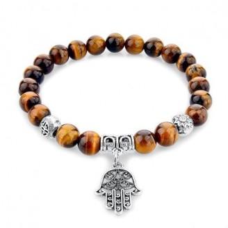 Hamsa Fatima Natural Stone Bracelet [3 Variants]