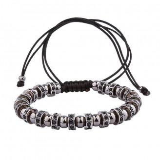 Black Pavé Crystal and Beads Bracelet [4 Variants]