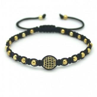 18K Gold Plated Crystal Pave Weave Unisex Bracelet [4 Variants]