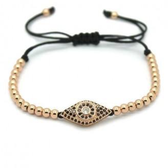 18K Gold Plated Beads and Sun Unisex Bracelet [4 Variants]