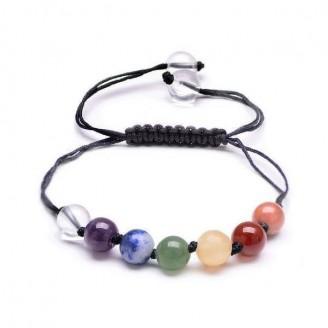 Adjustable Spiritual Chakra Crystal Unisex Bracelet