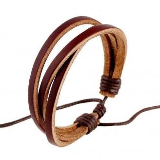 Handwoven Hemp Multilayer Brown Rope Leather Bracelet