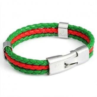 Support Portugal Unisex Leather Bracelet