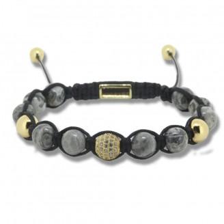8mm Stone Beads Disco Pave Crystal Macrame Shamballa Bracelets [10 Variants]