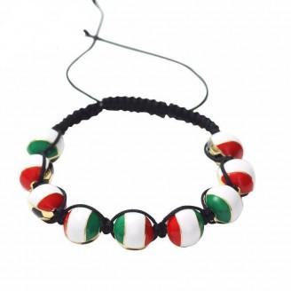 Italian Flag Shamballa Bracelet