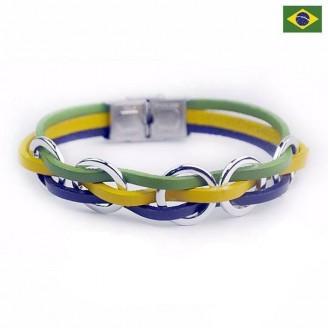 Support Brazil Genuine Leather Bracelet