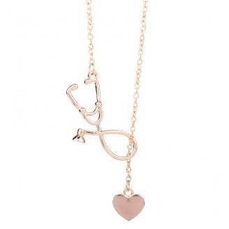 Cute Heart & Stethoscope Pendant Necklace [4 Variants]