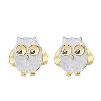 Women's Owl Sterling Silver Earrings