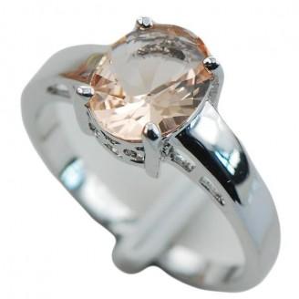 Minimalist Morganite Ring