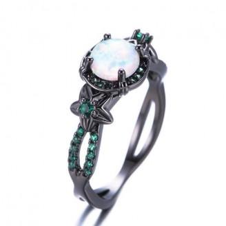Green Garden Opal Wedding Ring