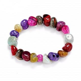 Rainbow Natural Energy Stone Chakra Bracelet