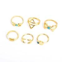 Turquoise Moon Arrow Boho Ring Set [6 Rings] [2 Colours ]