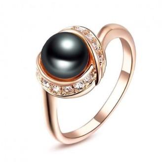 Vintage Rose Gold Black Pearl Ring [3 Variants]