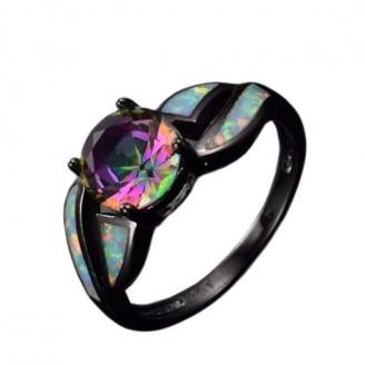 Prism Black Opal Ring