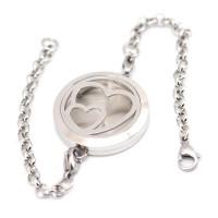 Love Hearts Stainless Steel Aromatherapy Bracelet