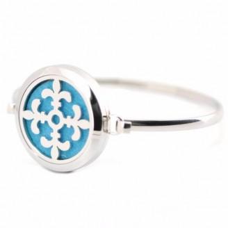 Silver Fleur De Lis Aromatherapy Bangle