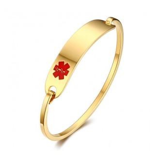 Elegant Stainless Steel Medical Alert Bangle Bracelet [2 Variants]