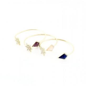 Snowflake Rhinestone Cuff Bracelet [3 Variants]