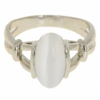 Natural Moonstone Silver Ring