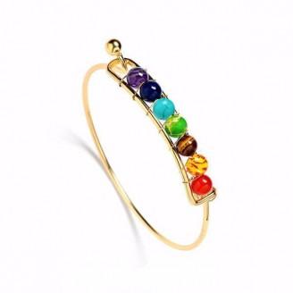 7 Spiritual Energy Stone Chakra Bangle Bracelet [4 Variants]