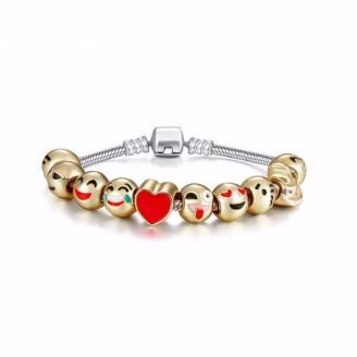Ten-piece Cute Emoji Charm Bracelet