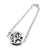 Mandala Stainless Steel Essential Oil Diffuser Bracelet [8 Versions ]