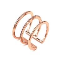 Micro Pavé Triple Layered Ring [2 Variants]