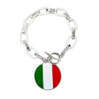 American Italian Flag Women's Charm Bracelet [10 Variants]