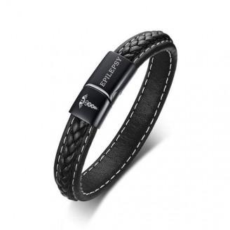 Emergency Medical Alert Genuine Leather Bracelet [4 Variants]