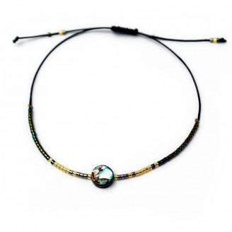 Natural Abalone Handmade Beaded Bracelet