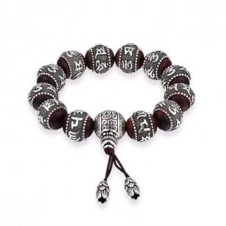 Antique Amulets Sandalwood Beads Bracelet