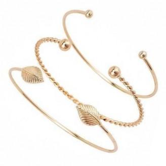 Candid Luxury Vintage Bohemian Adjustable Women's Bracelet Set [Set of 3]