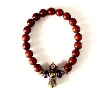 Red Sanderswood Mala Prayer Beads Bracelet