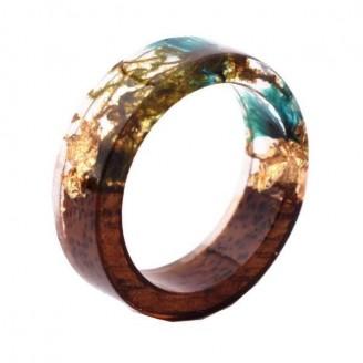 Novelty Handmade Wood Resin Inlay Ring [13 Colours ]