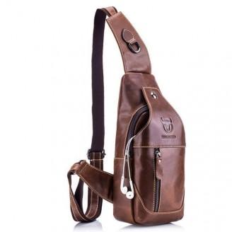 Genuine Cow Leather Crossbody Bag [4 Variants]