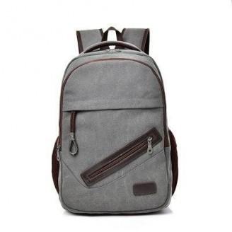 Mens Canvas Travel Notebook School Backpack [3 Variants]